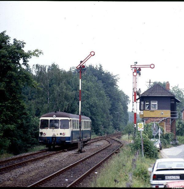 Akkutriebwagen, ETA 150, BR 515, Formsignal, Strecke Borken-Dorsten