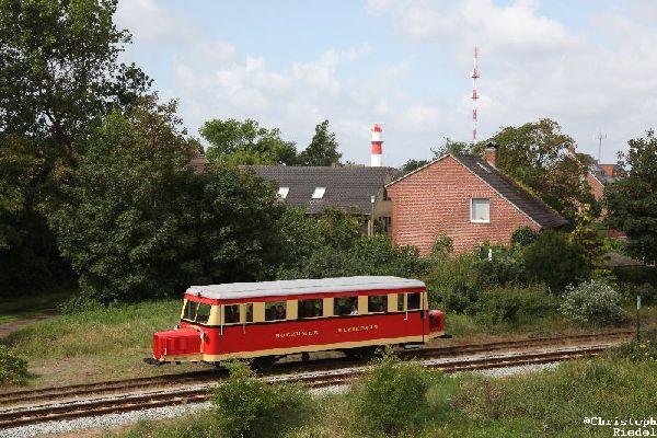 Borkumer Inselbahn, Wismarer Schienenbus, Schweineschnäuzchen, Ameisenbär