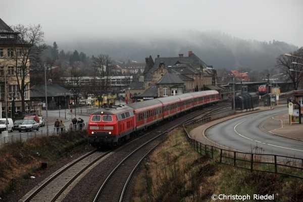 BR 218, n-Wagen, Bahnhof Goslar