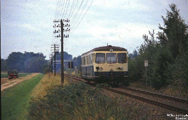 Akkutriebwagen, ETA 150, BR 515, Telegrafenleitungen, Strecke Mönchengladbach-Dalheim