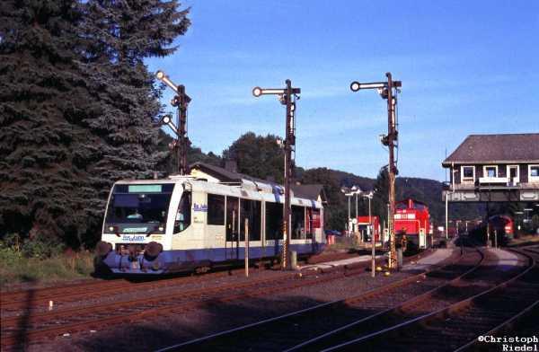Regiosprinter, Bahnhof Brügge, Reiterstellwerk