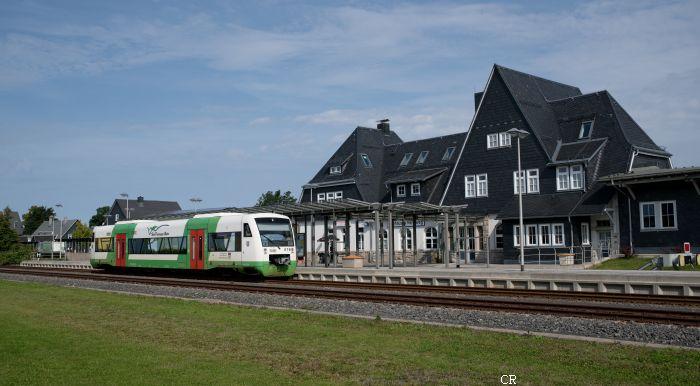 Bahnhof Neuhaus Regioshuttle  Baureihe 650